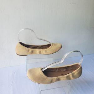 Lucky Brand Beige Lp-Erin Suede Ballet Flats  9.5M